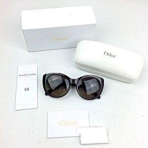 NEW Chloe Womens Sunglasses Cat Eye Brown